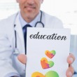 Word education and male doctor — Stock Photo #73224549