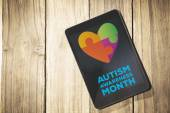 Composite image of autism awareness month — Stock Photo