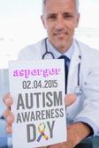 Asperger de palabra y hombre médico — Foto de Stock