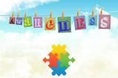Composite image of autism awareness jigsaw — Stock Photo