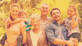 Portrait of an extended family at park — Stock Photo
