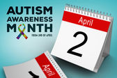 Autism awareness month — Stock Photo