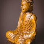 Wooden buddha statue — Stock Photo #73268127