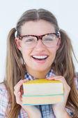 Geeky битник, улыбаясь в камеру — Стоковое фото