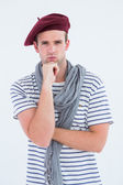 French guy with beret — Stock Photo