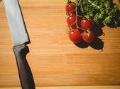 Cherry tomatoes and parsley — Stock Photo