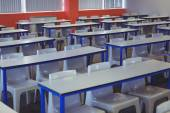 Empty classroom in the college — Stock Photo