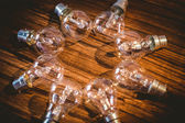 Light bulbs forming frame — Stockfoto