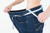 Woman waist who lost a lot of weight — Stock Photo