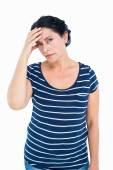 Sad woman looking at camera — Stock Photo