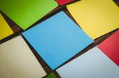 Colorful sticky post its — Stock Photo
