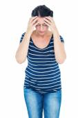 Woman having migraine — Stock Photo