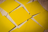 Yellow post its — Stock Photo