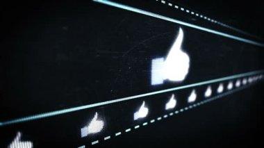 Social media pixel design — Stock Video