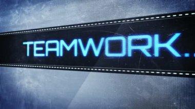 Teamwork pixel design — Stok video