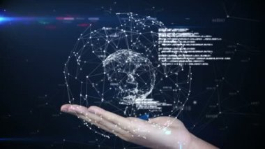 Hand presenting a tech design — Stock Video