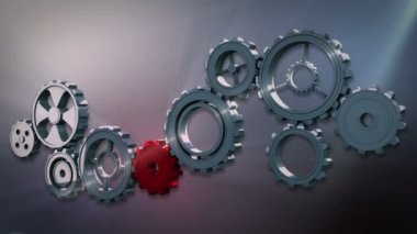 Cogs and wheels turning — Stock Video