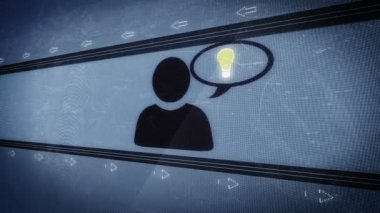 Social media in pixel design — Stok video