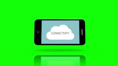 Media device screens showing cloud computing — Vídeo stock