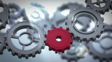 Cogs and wheels turning — Stok video