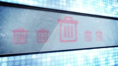 Trash signs in pixel design — Stok video