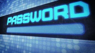 Password text in pixel design — Stok video