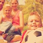 Boy having fun with a soccer ball — Stock Photo #76120207