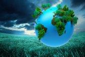 Immagine composita della terra con la foresta — Foto Stock