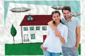 Cute couple smiling — Stock Photo