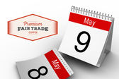 Composite image of fair trade graphic — Stock Photo