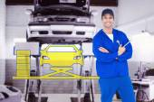 Mechanic holding wheel wrenches — Stock Photo
