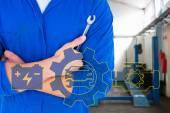 Mechanische bedrijf spanner — Stockfoto