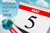 Composite image of world asthma day — Stock Photo