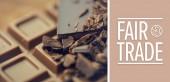 Composite image of fair trade — Stock Photo