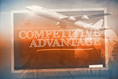 Composite image of graphic airplane — Stock Photo