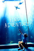 Composite image of find adventure — Stock Photo