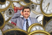 Composite image of thinking businessman — Stock Photo