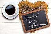 Составное изображение белого чашку кофе — Стоковое фото