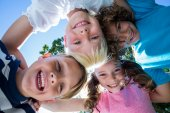 Happy child in the park together — Stock Photo