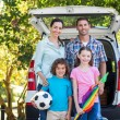 Family getting ready for road trip — Stock Photo #76170355