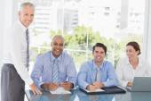 Business team during meeting — Stock Photo