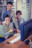 Happy designers working together — Stock Photo