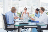 Team of doctors having a meeting — Stock Photo