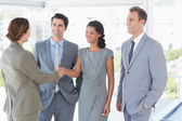 Business team meeting their partner — Stock Photo