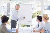 Businessman drawing graph on the whiteboard  — Stock Photo
