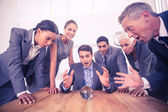 Group of business man predict the future — Stock Photo