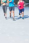 Friends doing jogging together — Stock Photo