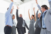 Business team celebrating a good job — Stock Photo