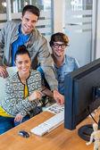 Professional designers working on photos — Stock Photo