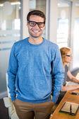 Smiling businessman posing — Stock Photo